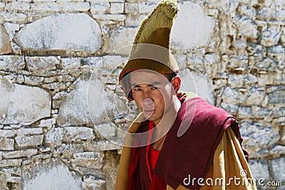 Tibetan monk Editorial Stock Image