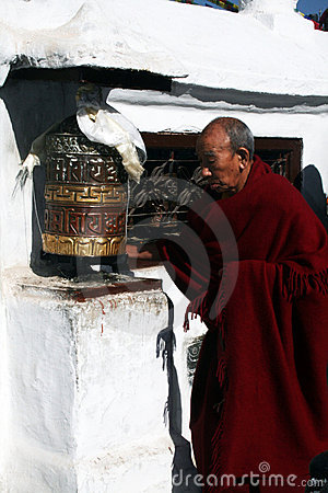 Tibetan monk Editorial Stock Image