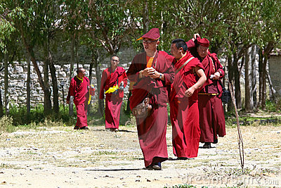 Tibetan monks Editorial Photography