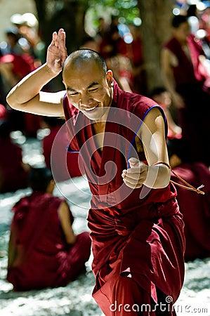Tibetan Monnik Redactionele Afbeelding