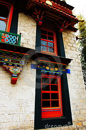 The Tibetan nationality dwelling house