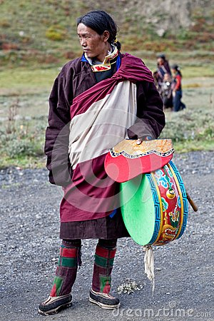 Tibetan nomad Editorial Stock Image