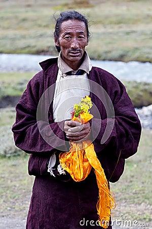Tibetan nomad Editorial Photo