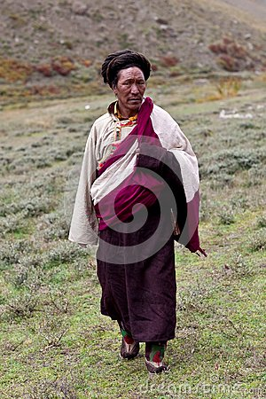 Tibetan nomad Editorial Stock Photo