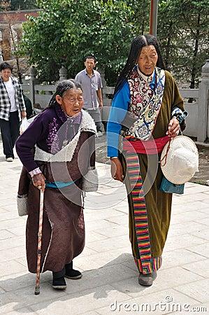 Tibetan old women Editorial Photo