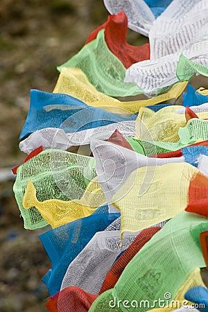 Tibetan Prayer Flags in Lhasa