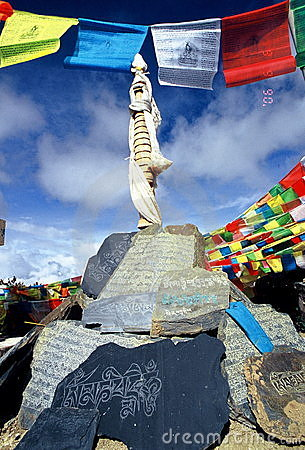Tibetan Prayer Stones & flags