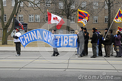 Tibetan Protest. Editorial Photo