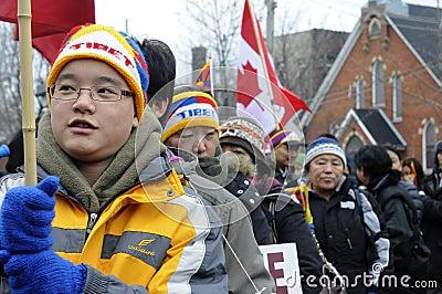 Tibetan Protest. Editorial Stock Photo