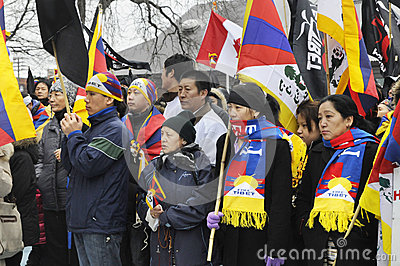 Tibetan Protest. Editorial Photography