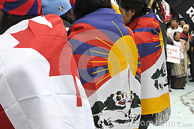 Tibetan Protest. Editorial Image