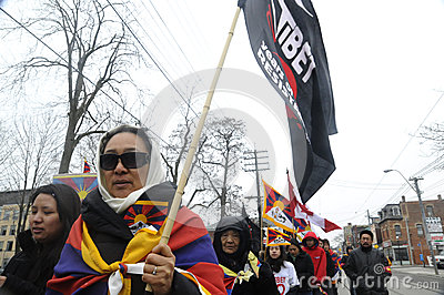 Tibetan Protest. Editorial Image