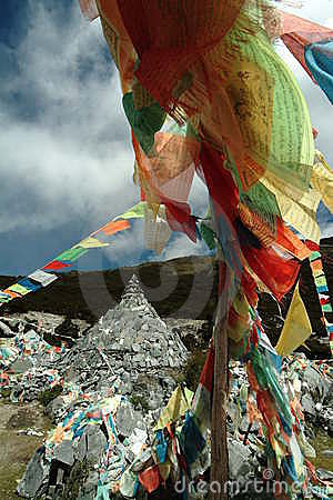 Tibetan religion supplies - wind horse s banner