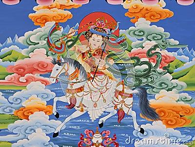 Tibetan Shangri-la mural