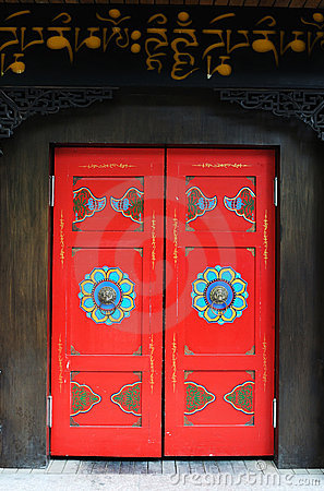 Free Tibetan Style Door Royalty Free Stock Photo - 14293615