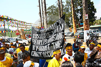 Tibetan Uprising Day Anniversary Celebration at Oo Editorial Photography