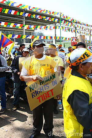 Tibetan Uprising Day Anniversary Celebration at Oo Editorial Image