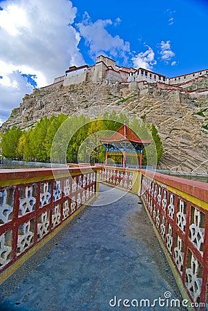 Tibetan walkway and fortress