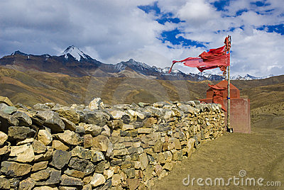 Tibetan wall of stone