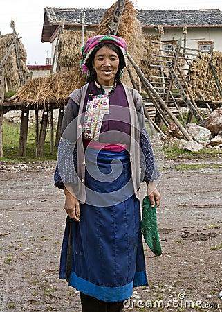Tibetan woman in Yunnan Province Editorial Image