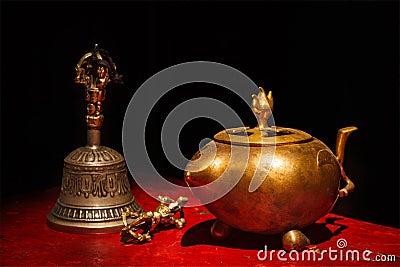 Tibetanisches buddhistisches Stillleben