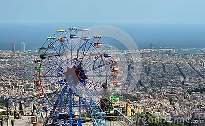 Tibidabo Amusement Park - Barcelona, Spain Editorial Photography