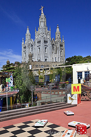 Tibidabo area Editorial Stock Image