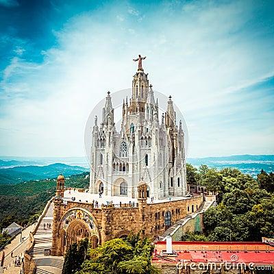 Free Tibidabo Church On Mountain In Barcelona Stock Photos - 46636353