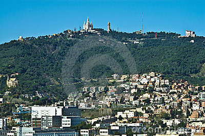 Tibidabo Mount located at Barcelona, Spain