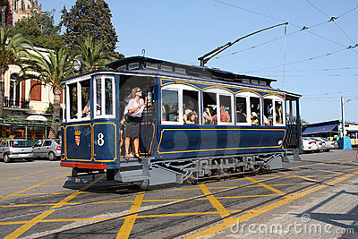 Tibidabo tram Editorial Photography