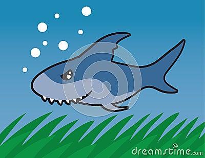 Tiburón de la natación