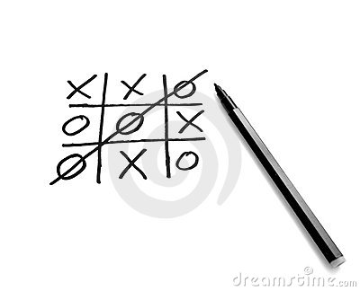 Tic tac toe leisure game mental scribble