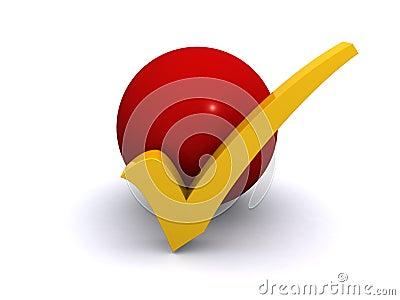 Tick mark button