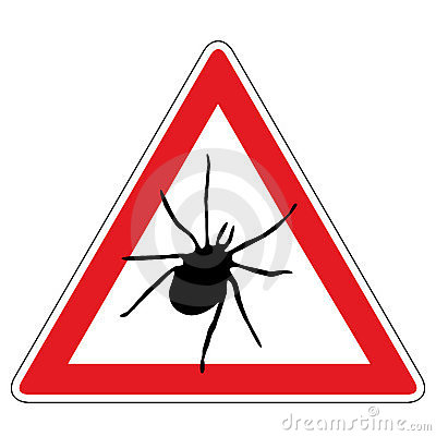 Tick warning sign