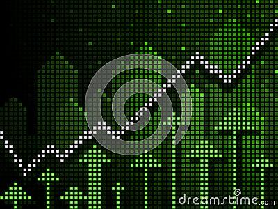 Ticker business chart up