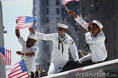 Ticker Tape Parade Editorial Stock Photo