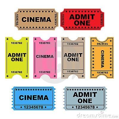 Free Ticket Admit One - Set Stock Images - 15075814