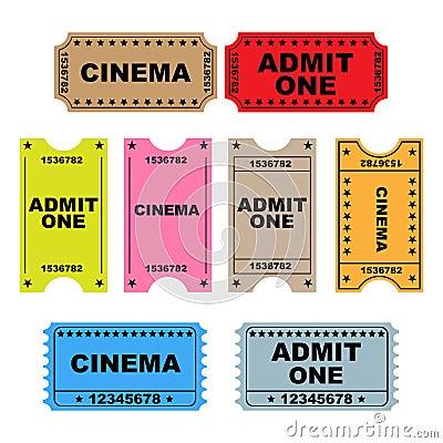 Ticket admit one - set