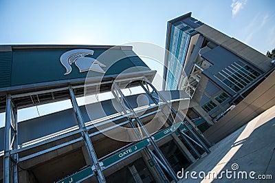 MSU Stadium Editorial Stock Photo