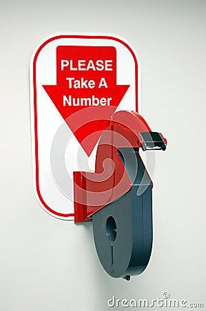 ticket number dispenser machine