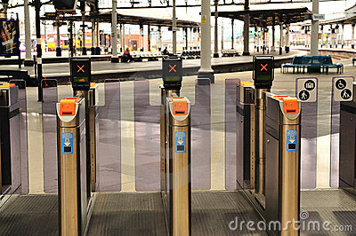 Ticket Gate Royalty Free Stock Photo - Image: 19895855