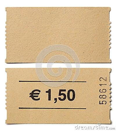Free Ticket Stub Isolated Stock Photo - 43821780