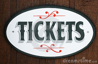 TICKETS (for sale) sign