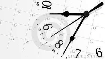 Ticking Time Clock with Calendar