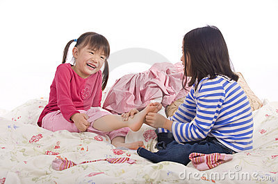 Royalty Free Stock Image Tickling Feet