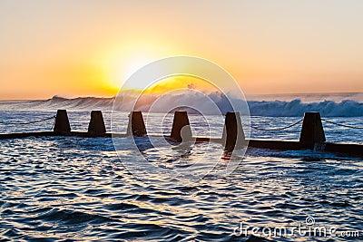 Tidal Pool Ocean Waves Dawn Energy