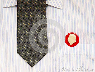 Tie and badges