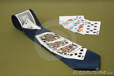 Tie with cards