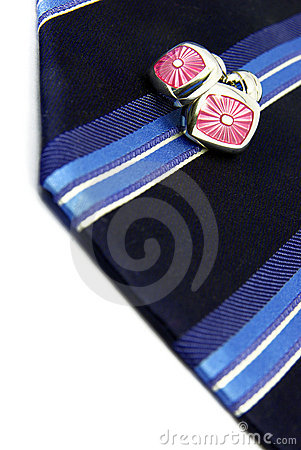 Tie and cufflinks