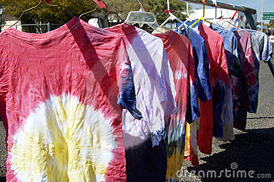 Tie-dyed shirts